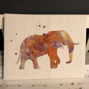 Elephant ink blot Canvas